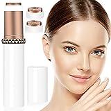 Depiladora Facial Mujer, Eléctrico Depilar para Sin dolor Afeitadora Mujer Afeitado Portátil para Vello Facial Con Cabezal de Repuesto, Cepillo de Limpieza y Luz (blanco 1)