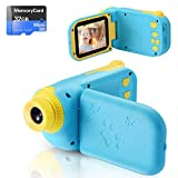 Cámara Digital para Niños Juguete para Niños Regalos Cámara de Vídeo A Prueba de Choques Pantalla HD de 2.4 Pulgadas 1080P Regalos Tarjeta TF de 32GB Regalos para Niños y Niñas de 3 a 12 Años (Azul)