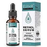 Retinol Serum – 2,5% retinol contenido Sistema con Vitamin C & Vegan ácido hialurónico – Reparación Piel, Cicatriz, Mancha Oscura, Línea Fina y Arrugas para Cara y Piel