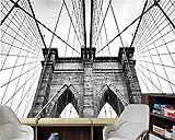 Papel Pintado Pared Paneles Tapiz Pared 3D Fotomurales Decorativos Pared Cuadros Para Dormitorios Modernos Puente Moderno Dormitorio De Herramientas Fotográficas En Blanco Y Negro