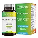 Multivitaminas y Minerales + Coenzima Q10 | Complejo Multivitaminico Vegano 29 Nutrientes con Vitaminas A, B, C, D, E, K, Biotina, L-cisteína, Coenzima Q10 y 9 Minerales | 60 Cápsulas Veganas Nutralie