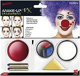 Smiffy'S 37805 Kit De Maquillaje De Payaso Con Pintura Para La Cara, Nariz, Lápices Y Esponja, Multicolor