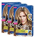 Schwarzkopf Nordic Blonde Coloración - M1 Mechas Radiantes - Pack de 3
