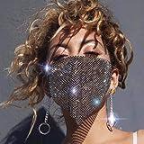 IYOU Brillante Cristal Malla Máscara Negro Mascarada Brillante Diamante de imitación Cara Mascaras Costoso Pelota Fiesta Disfraz Brillantina Decoración Máscara Joyería para Mujer y Muchachas