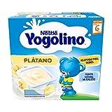 Nestlé Yogolino Postre lácteo con Plátano, Para bebés a partir de 6 meses, Paquete de 6x4 tarrinas de 100g