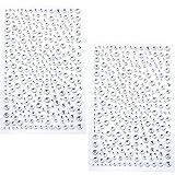 650 Piezas Autoadhesivas de Imitación Diamantes Rhinestone de Gemas Pegatina (Transparente)